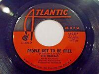 The Rascals People Got To Be Free / My World 45 1968 Atlantic Vinyl Record