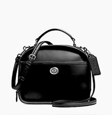 COACH Retro Lunch Pail  SMOOTH BLACK CALF LEATHER11785 MSRP $395 FREE SHIPPING