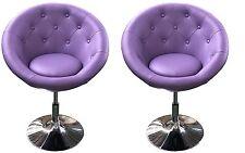 Stylish Round Chrome Hydraulic 360-degree swivel Bar Stool, set of 29 Purple