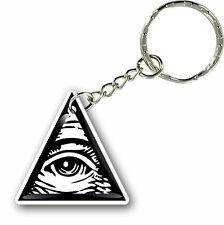 Keychain key ring keyring car masonic freemason illuminati eye of providence
