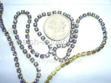 "12"" / 30cms x Swarovski 12ss / 24pp Tanzanite #1012 crystal cupchain / chain"