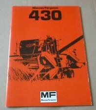 Massey Ferguson Mähdrescher 430 Betriebsanleitung