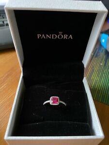 Pandora Ruby Zircona Ring 54 NEW