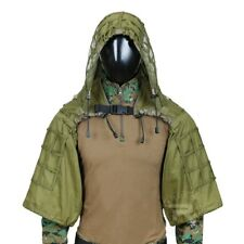 Sniper Ghillie Suit Tactical Viper Hood Top Hunting Airsoft Adjustable Green