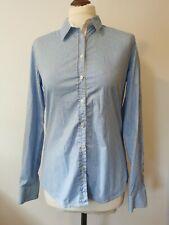 Saint James blue striped shirt size 10