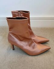 M&S Insolia BNWT Super sexy light pink ankle satin socks boots UK 6.5 EU 40