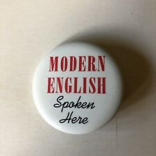 Modern English Original 1983 I Melt With You North American Tour Button Pin