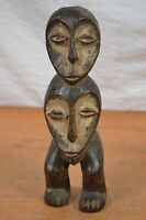 African Tribal Art,Double face Lega statue from,pangi  DRC.