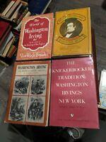 Washington Irving Four HC 1ST EDITIONS DJ'S Kickerbocker 1802-1832