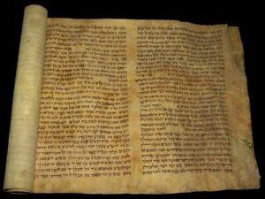 Antique Megillat Esther Scroll מגילת אסתר On Parchment 16/17th centuries Germany