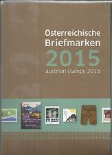 Österreich Jahreszusammenstellung der österr Post  2015  postfrisch  komplett