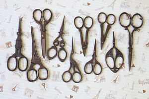 Antique Vintage style Scissors decorative paper craft scrapbook sewing trimmer