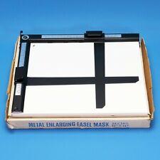 """Royal 26x30cm / 10x12"""" 2-Blade Adjustable Darkroom Easel Mask Metal Clean Japan"""