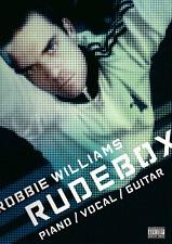 Robbie Williams rudebox pianoforte chitarra VOCAL Songbook Spartiti Musicali LIBRO SHOP sporchi