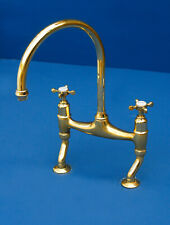 Vintage Brass Kitchen Mixer Taps Reclaimed & Fully Refurbished - Perrin & Rowe