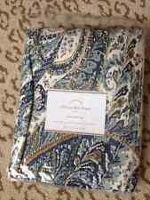 "Pottery Barn Ellis Drape Blue 96"" Paisley Floral Curtain Panel Drapery New"