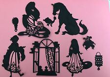 Selection Of Disney Themed Rapunzel Die Cut Toppers