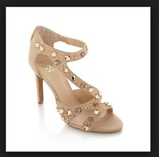 NEW VINCE CAMUTO KAYANNE PETAL SUEDE JEWELED DRESS SANDALS 6  M