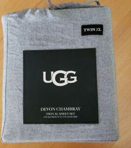 UGG Devon Twin XL Sheet Set Navy..NEW