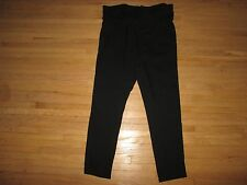 New Women's ANN DEMEULEMEESTER Black Belted Tapered Franklyn Trousers Pants L