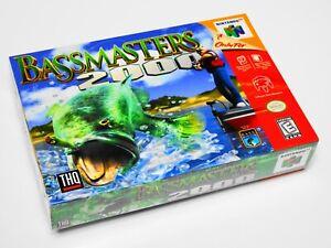 "🐟 BASS MASTERS 2000 🎣 (Nintendo 64) N64 CIB NEW FACTORY SEALED 🦈 ""RARE!"