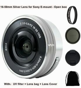 Sony E 16-50mm f/3.5-5.6 Power zoom Silver lens SELP1650 for Sony E-Mount Camera