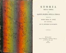 Storia della chiesa di Santa Maria della croce ed. 1824 - U018
