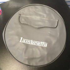 "Spare wheel cover 10"" grey with zip pocket & Lambretta logo"