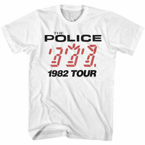 The Police T-shirt VINTAGE 1982 Ghosts Machine Live Tour band Sting vinyl cd W