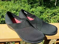 Women's 11 - Crocs Busy Day Loafer Stretch Wedge Shoes Black Dual Comfort 202852