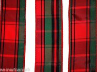 """4 yards Wired Tartan Plaid Christmas 2"""" Ribbon Indoor Outdoor Red Green Bow Wrap"""