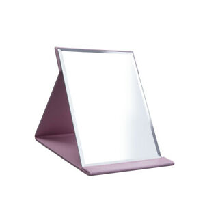 Protable PU Leather Mirror Folding Pink Makeup Mirror with Adjustable Stand