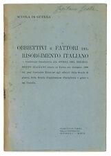 RINAUDO C. OBBIETTIVI E FATTORI DEL RISORGIMENTO ITALIANO SCUOLA DI GUERRA 1907