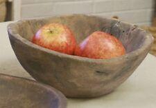 primitive aged look round decor treen bowl / nice