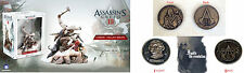 Assassins Creed III Connor The Last Breath Figurine & 2 Limited Promo Coins New