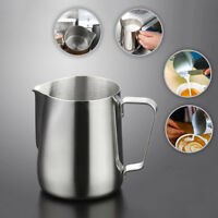 Bar Stainless Steel Coffee Pull Jug Frothing Milk Cup Container Latte Frother