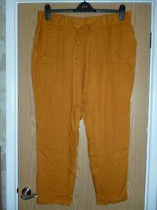 Matalan Papaya Women's Orange Chino Trousers size 18