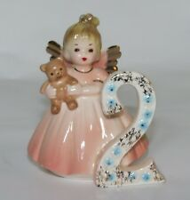 Vintage Josef Original Ceramic Birthday Year Angel Figurine 2 year