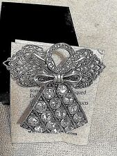 Quite Beautiful Brooch/Pin in silver plate and Swarovski Crystals (12+) on skirt