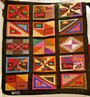 """Andes""""Geometría en Negro"""" Artisan Wall Tapestry Wool Handmade in theColorful"""