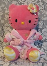 Build A Bear Hello Kitty Sunshine Coral Pink Yellow Plush Stuffed with Bow Robe