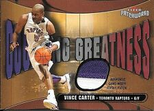 03/04 Patchworks Courting Greatness #VC Vince Carter 2 Color Patch #121/150