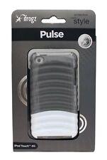 iFROGZ  Ipod Touch 4g Pulse Hard Plastic Case Ridged Glossy Gray White Apple New