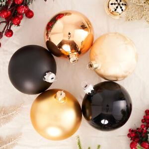 13 Sets of 10cm x 4pcs Handmade Enamel Colour Glass Baubles Christmas Tree Decor
