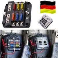 6-Fach Sicherungskasten ATO 6-24 V Volt KFZ LKW BOOT PKW Sicherungschalter