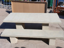 GRC concrete dining setting indoor outdoor table and bench seats