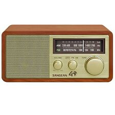 Sangean WR-11SE FM / AM Analog Wooden Cabinet Radio Receiver in Gold Finish New