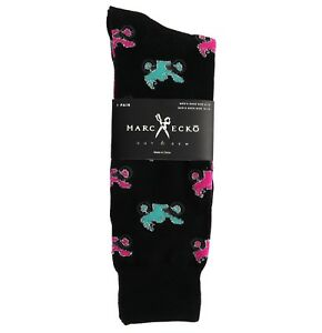 "Marc Ecko ""Motorcycles"" Black Novelty Casual Dress Socks Men's Shoe Size 6-12"