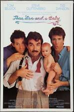 THREE MEN AND A BABY - 27x41 Orignal Movie Poster One Sheet Rolled Tom Selleck