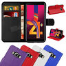 For Samsung Galaxy J4+ Plus - Premium Leather Wallet Flip Case Cover + Screen